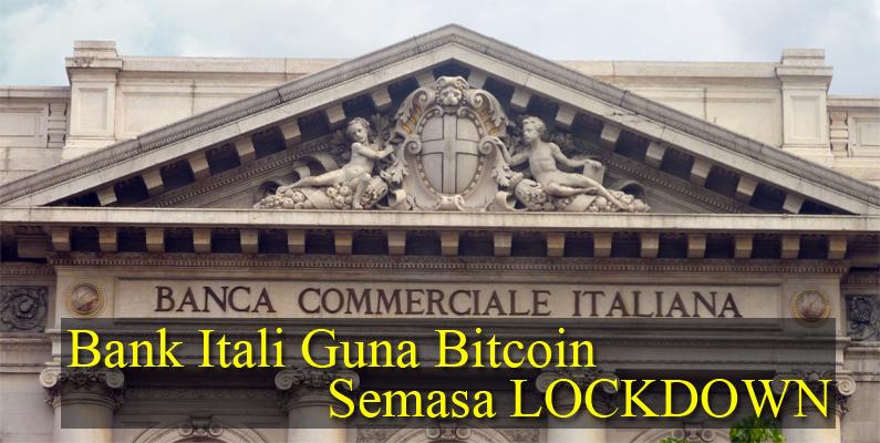 Itali Membuka Urusniaga Menggunakan Bitcoin Semasa Lockdown
